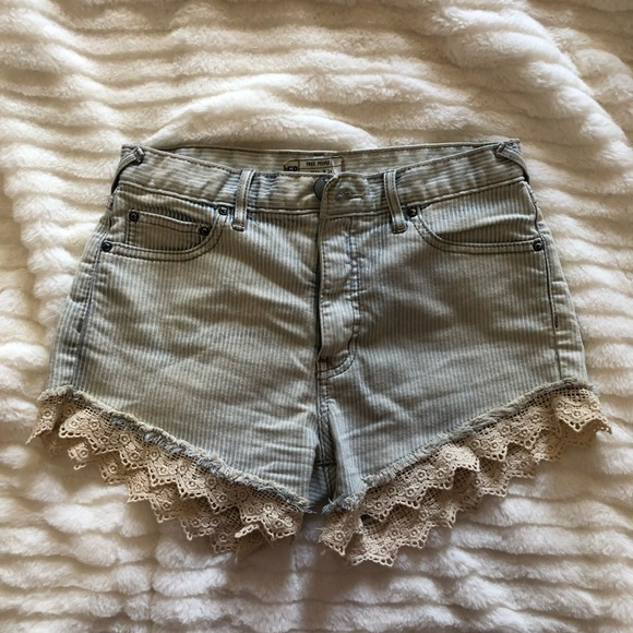 Free people Denim Shorts Boho Style